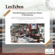 Notre revalorisation des déchets d'aluminium mise en avant par Les Echos
